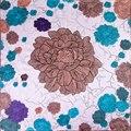 100% Mulheres Lenço de Seda Lenço de Couve Flor Meio Hijab lenço De Seda Quadrado cachecol 2017 Top Bandana Foulard Fêmea Grande Presente Quente para a Senhora