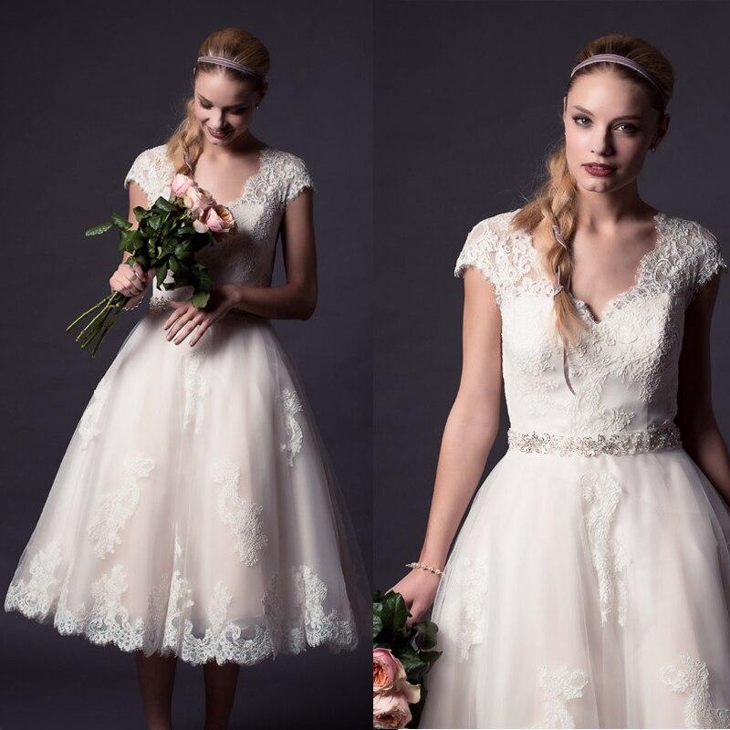 Online Get Cheap Vintage Wedding Dress Tea Length Pink -Aliexpress ...