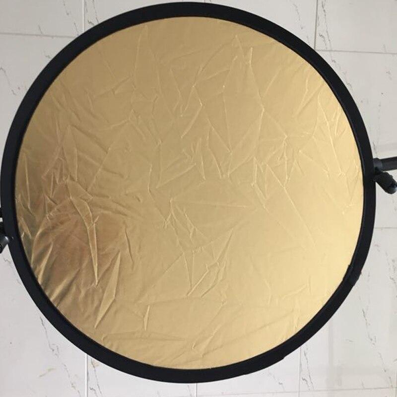 23 ''60 CM 2 dans 1 Réflecteur Rond Flash Photographie Studio Pliable Refletor Lumière Disque Argent Or En Gros Réflecteur