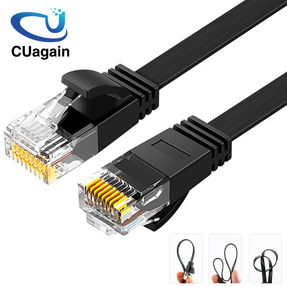 2m Renewed Ethernet Cable VANDESAIL 2 Pack 6.5ft CAT7 RJ45 LAN Cable High Speed Gigabit Network Patch Cord Gold Plated