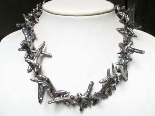 LIVRAISON GRATUITE >>>@@> huij 001583 noir perle 35mm croix biwa perle perles collier-Mariée bijoux livraison gratuite