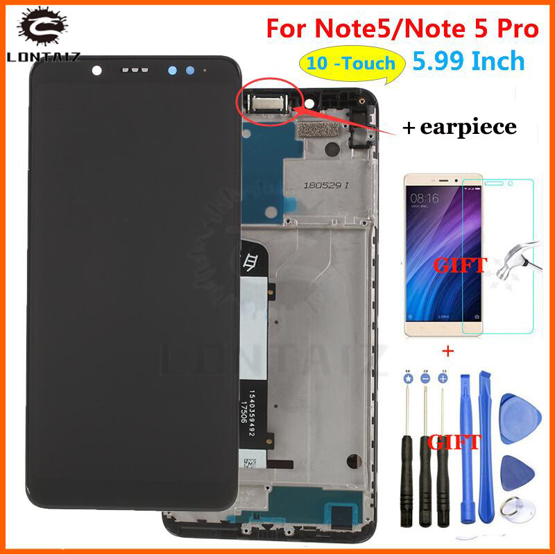 For Xiaomi <font><b>Redmi</b></font> <font><b>Note</b></font> <font><b>5</b></font> <font><b>Pro</b></font> <font><b>LCD</b></font> Display Touch Screen Test Good Digitizer Assembly Replacement For Xiaomi <font><b>Redmi</b></font> Note5 <font><b>5</b></font>.99 Inch image