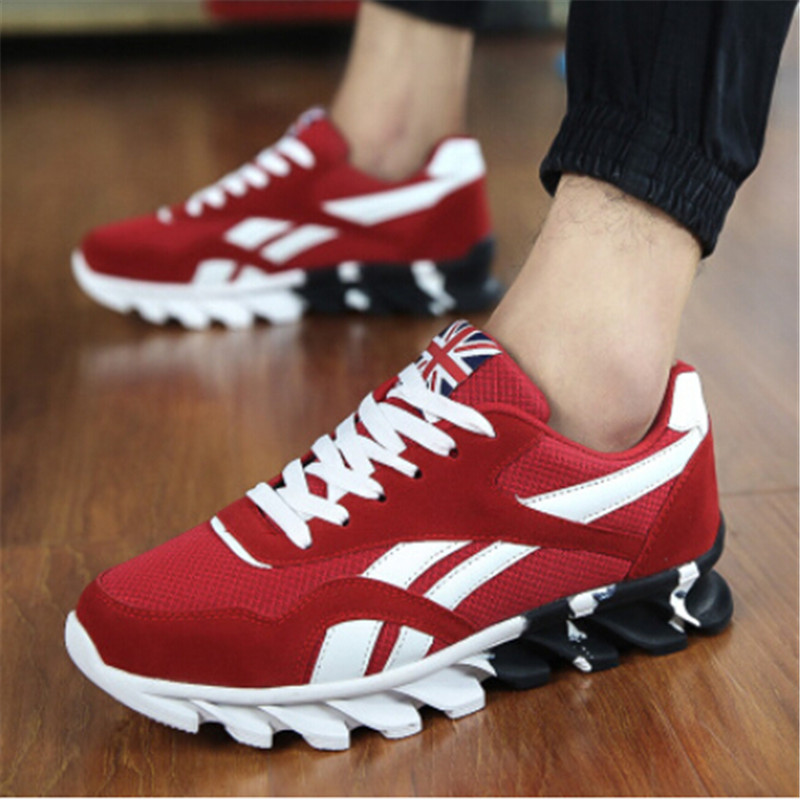 Cheap Running Shoes Men's Sports Sneakers Spring Autumn Male Sports Shoes Black Red Blue Plus Size Sneakers Wearable Footwear