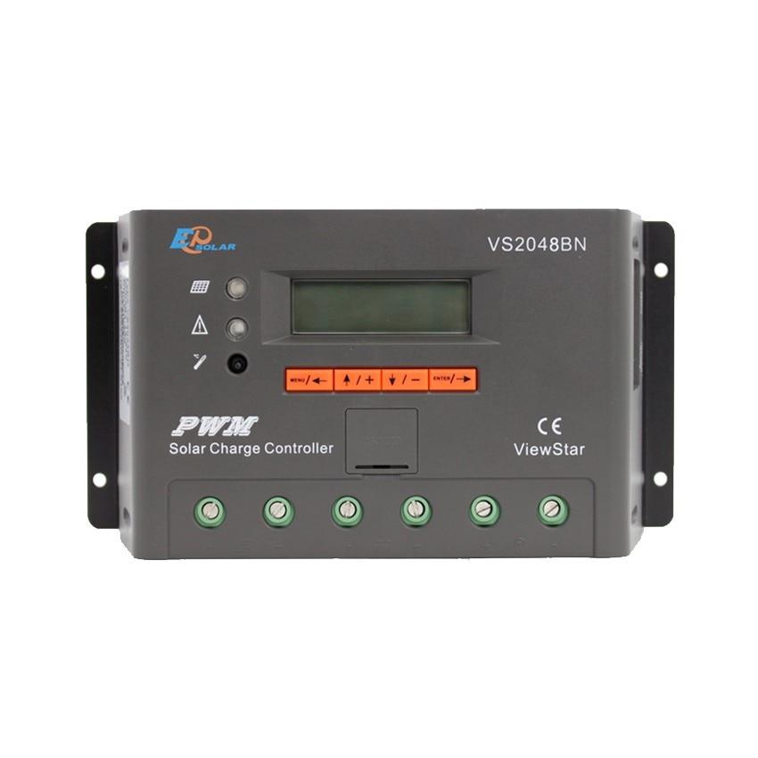 EPSOLAR 20A 12V 24V 36V 48V ViewStar VS2048BN EP PWM Solar Charge Controller with LCD display epsolar vs3048au 30a 12v 24v 36v 48v ep epever new viewstar solar charge controller lcd display