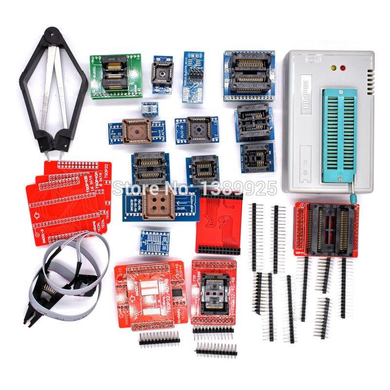 Original nouveau 100% V8.33 TL866II Plus universel Minipro 21 adaptateurs pince de Test TL866 PIC