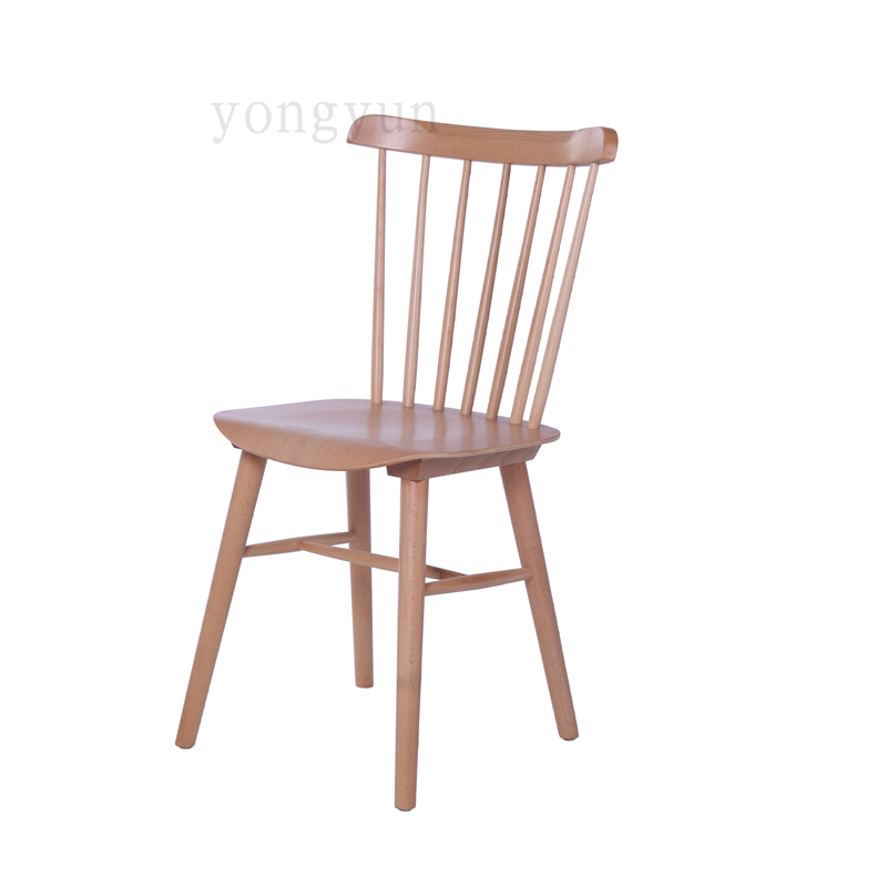 Classic Leisure Hotel minimalist Modern solid wood Dining Room Furniture chairs beech wooden   dining chairs
