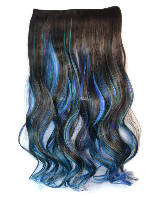 Luckygirl Colorful One Piece Brown Sky Dark Blue Ombre Curly