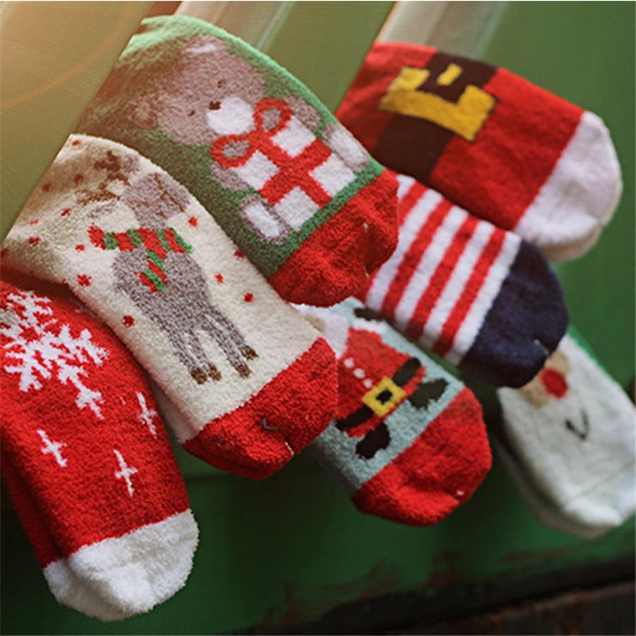 cotton christmas socks kids girl boys new year childrens sock warm winter fashion cute children christmas socks soft 70z0468 in socks from mother kids on