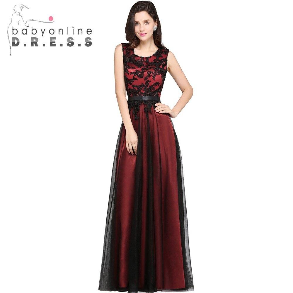 Black Long Mermaid Evening Dresses Klänningar Satin Appliques Lace - Särskilda tillfällen klänningar - Foto 5