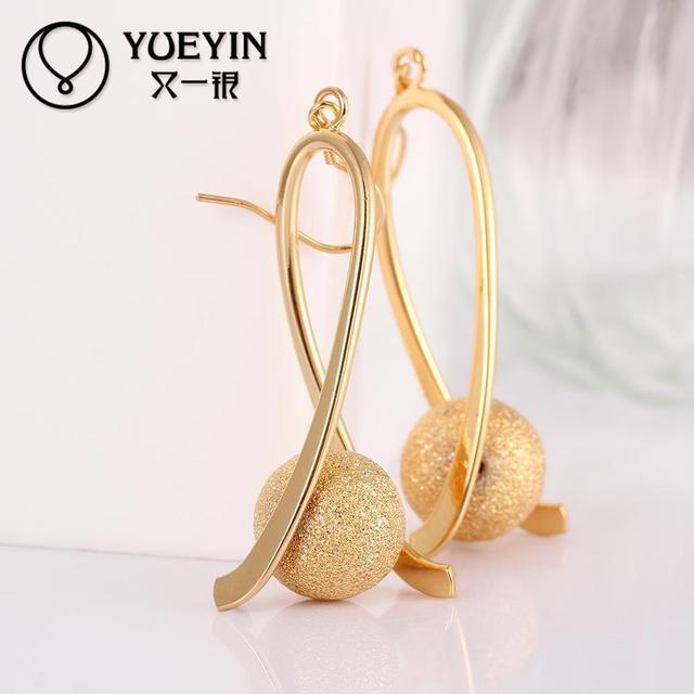 E034 A Long Dangle Earrings Simple But Elegant Wedding For Brides