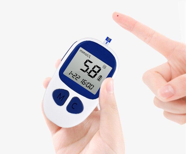 ФОТО 2PCS/LOT Glucose meter household  Blood glucose meter glucose meter measuring instrument diabetes AH-506
