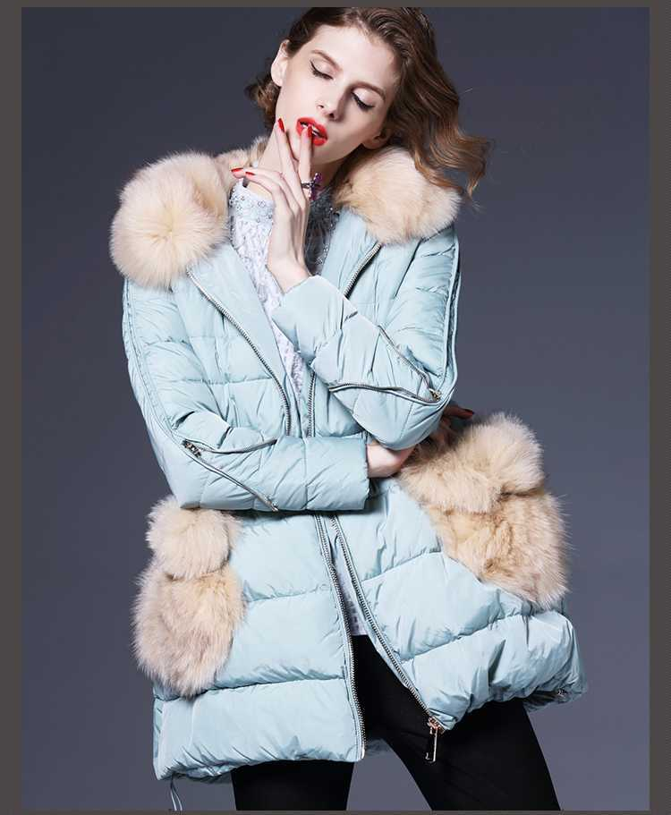 New 2015 Women Fur Hooded Slim Coats Fashion Winter Luxury Long Jackets Ladies Thicken Wadded Overcoats Parkas H4619 brand new 2015 men fur hooded cotton padded coats fashion winter women thicken jackets couples overcoats outerwear h4395