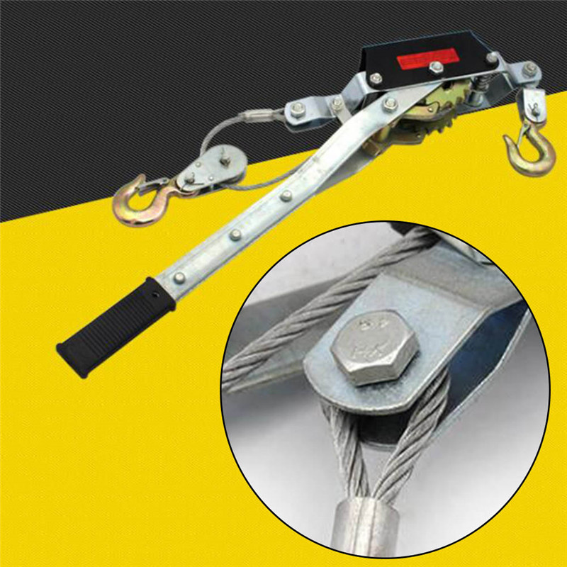 1-4T car cargo manual wire rope logistics tensioner ratchet double hook line  Wire Rope Ratchet Hand Power Puller Tighten Tool xkai 14pcs 6 19mm ratchet spanner combination wrench a set of keys ratchet skate tool ratchet handle chrome vanadium