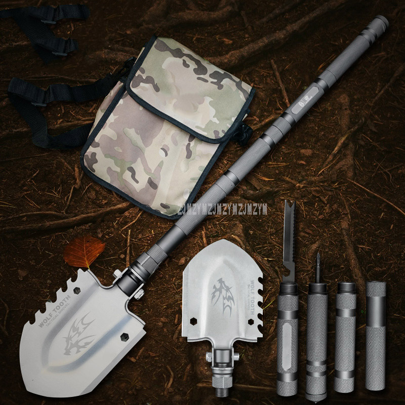 82cm Professional Outdoor Survival Military Tactical Multifunctional Shovel Multi-Tools Detachable Camping Equipment ZSG-001 new professional outdoor camping military tactical multifunctional shovel tools portable foldable survival tool promotion sale