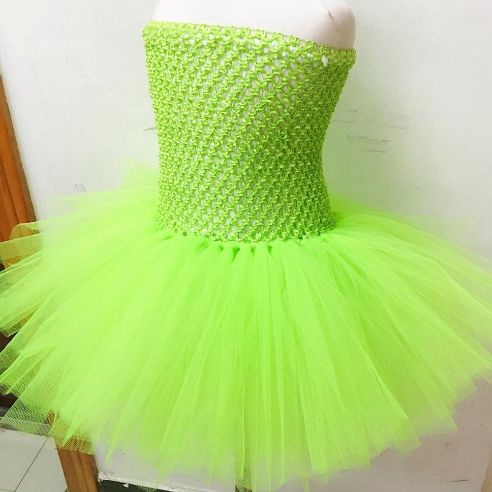 Summer 2017 Knee Length Tinkerbell Tutu Dress Costume Fairy Fluffy ...