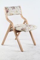 Garden Chair Tea Table Stool Folding Seat Wood Frame