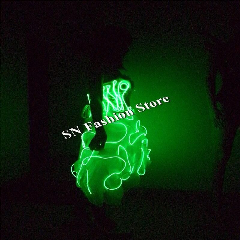 SN79 EL külma juhtmed kerged kostüümid muusika tantsusaal seksikas - Pühad ja peod - Foto 3