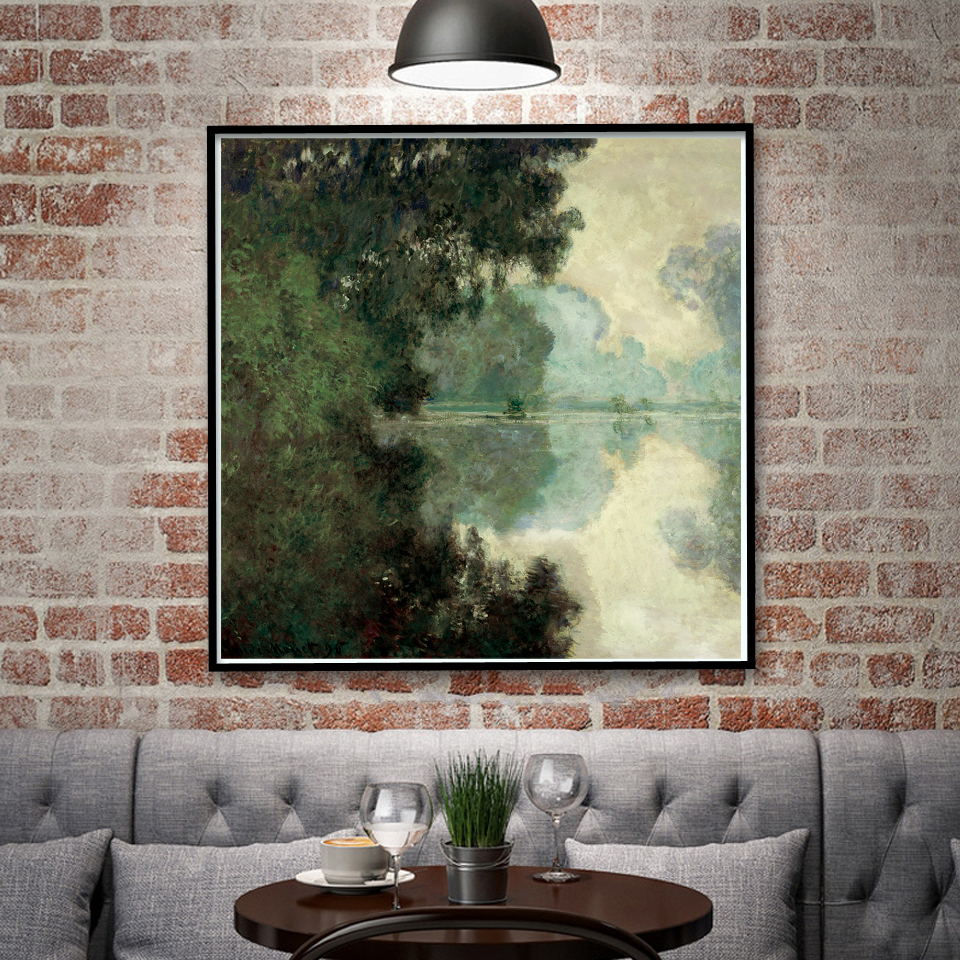 France Claude Monet Artwork Senna River Art Silk Poster Home Wall Decor Painting 16X16 24x24 30x30 Inch Unframed Free Shipping ...