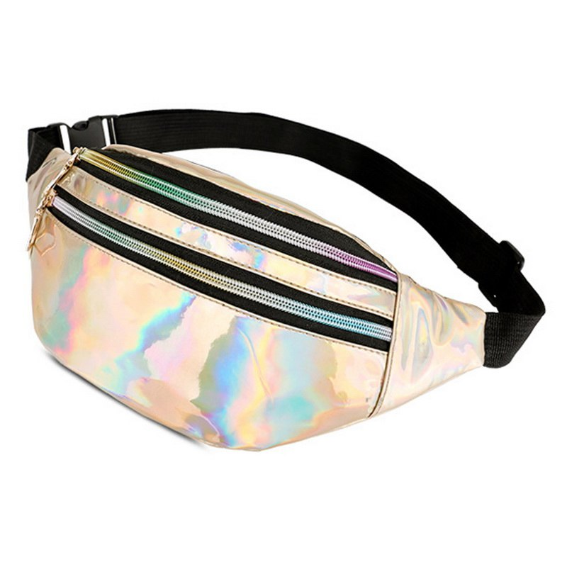 2019 Women Fanny Pack Steam Punk Leg Bag Reflective Laser Shoulder Bag Women's Belt Waist Bag Pochete Women Waist Pack