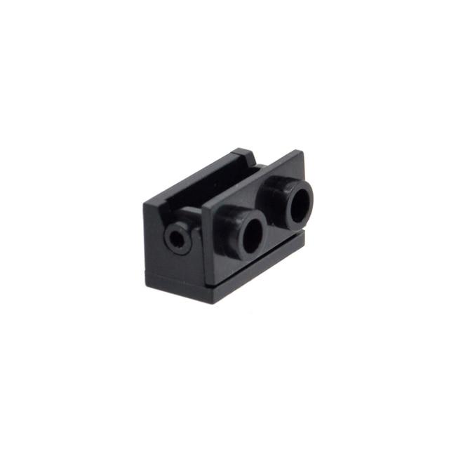 10pcs/lot 1*2 Hinge Base Top MOC Custom Bricks Part Building Compatible Blocks 3937 3938 Educational Toys for Children