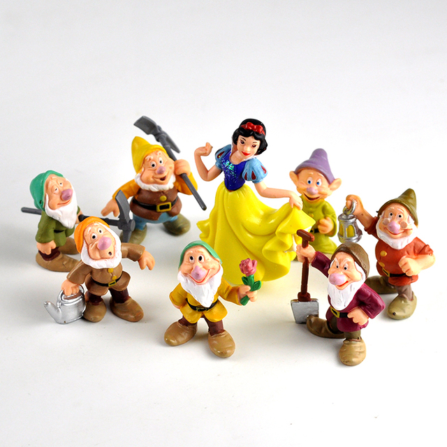 Disney Seven Dwarfs And Princess Snow White 8pcs/Set 5-10cm