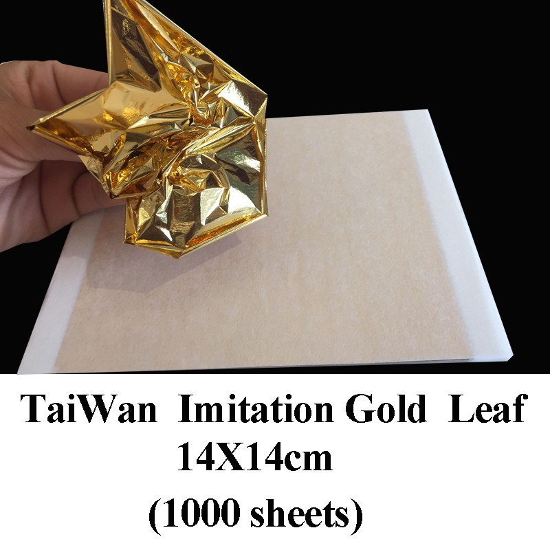 Aliexpress.com : Buy 1000 Sheets Antique Imitation Gold Shiny Imitation  Gold Leaf,gilding, Foil Paste Furniture Lines Wall Crafts And So On From  Reliable ...