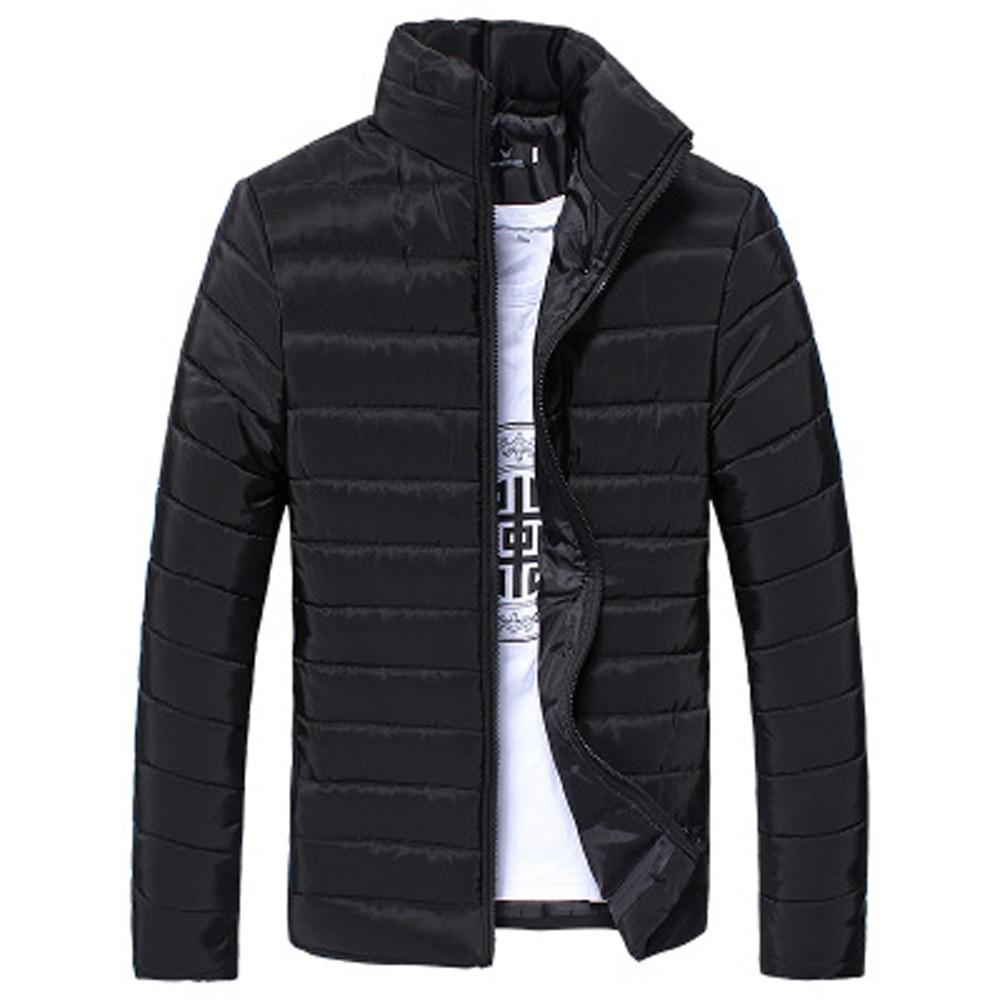 2018 New Winter warm Men Jacket Cotton Stand Zipper Warm Winter Thick Coat Jacket Casual Men Overcoat Plus Size 3XL