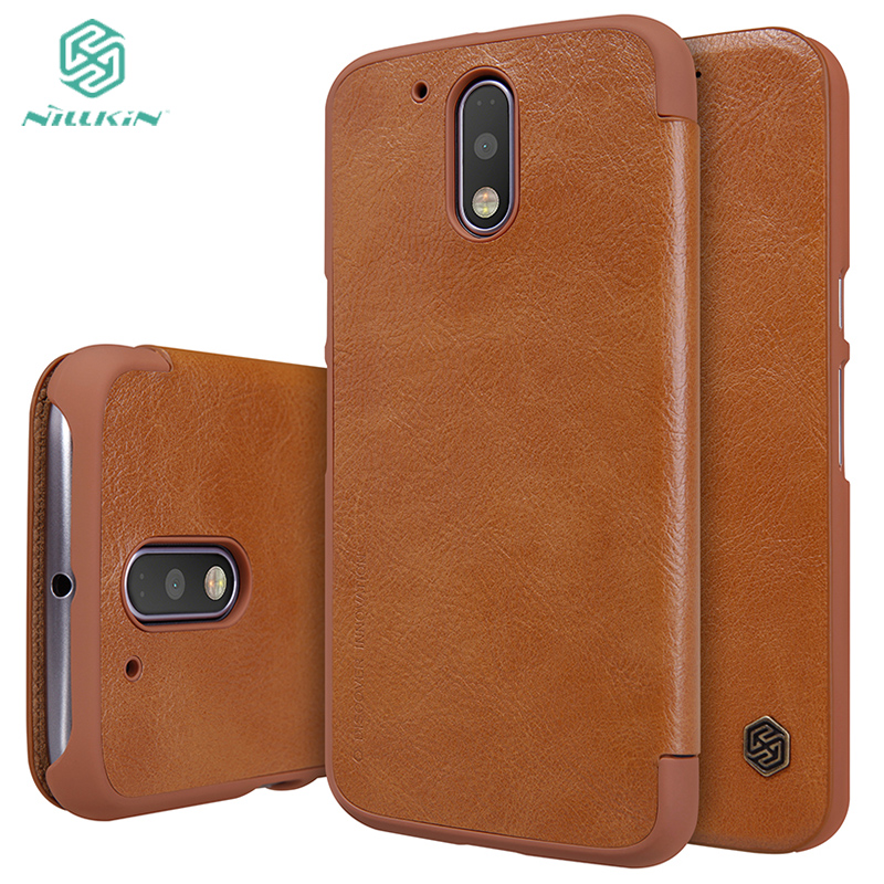 Original Nillkin Sparkle PU leather case for Motorola Moto G4 G4 Plus XT1640 XT1641 XT1643 XT1622