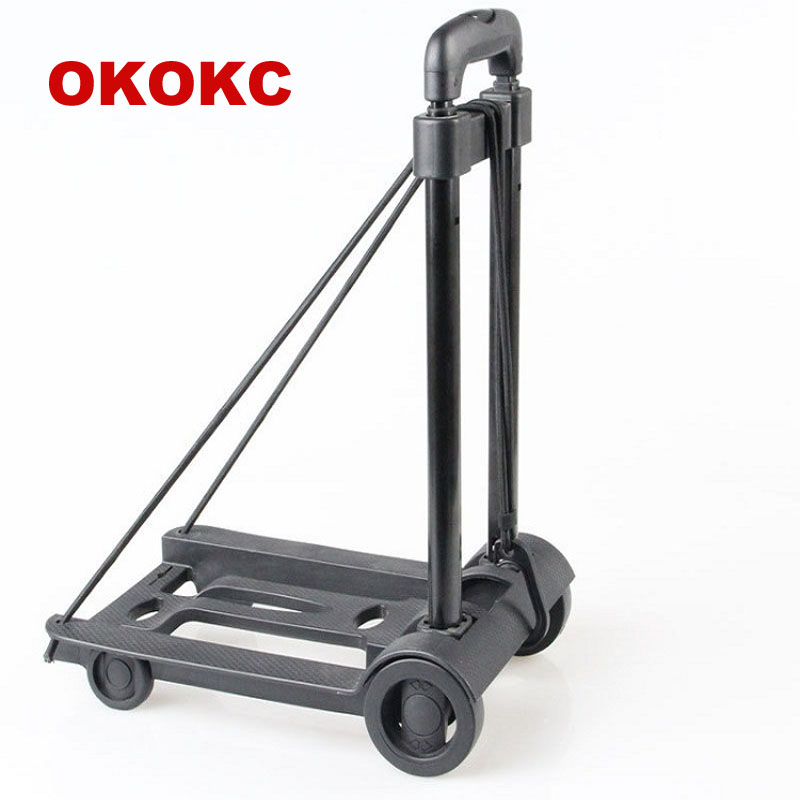 OKOKC Folding Luggage Cart Classic Style Portable Shopping Cart Travel Accessories цена 2017
