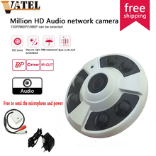 360degree panoramic 720P HD Audio IP Camera 1.0mp high-definition super wide angle fisheye probe surveillance camera monitoring