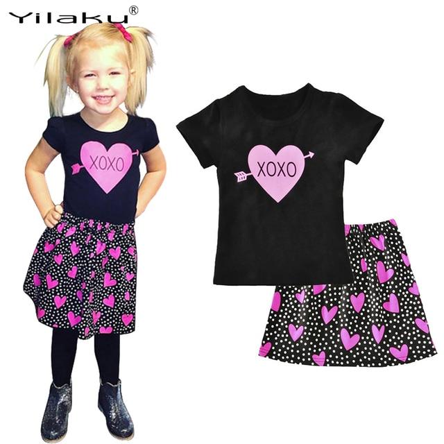 3f0d207fa Aliexpress.com   Buy Kids Skirt Sets 2017 Hot Girls Clothes Set ...