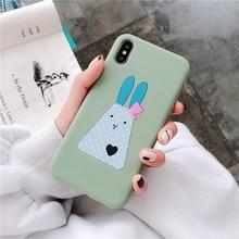 Soft TPU Matte Case For iPhone X Xs XR XS Max 7 Plus 8 Cute Phone Cover iphone 6 6s Animal