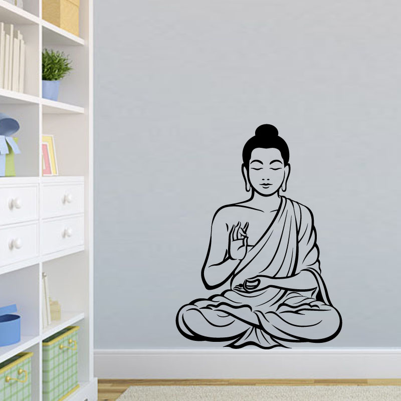Buy dctop meditating buddha decal diy for Deco mural zen