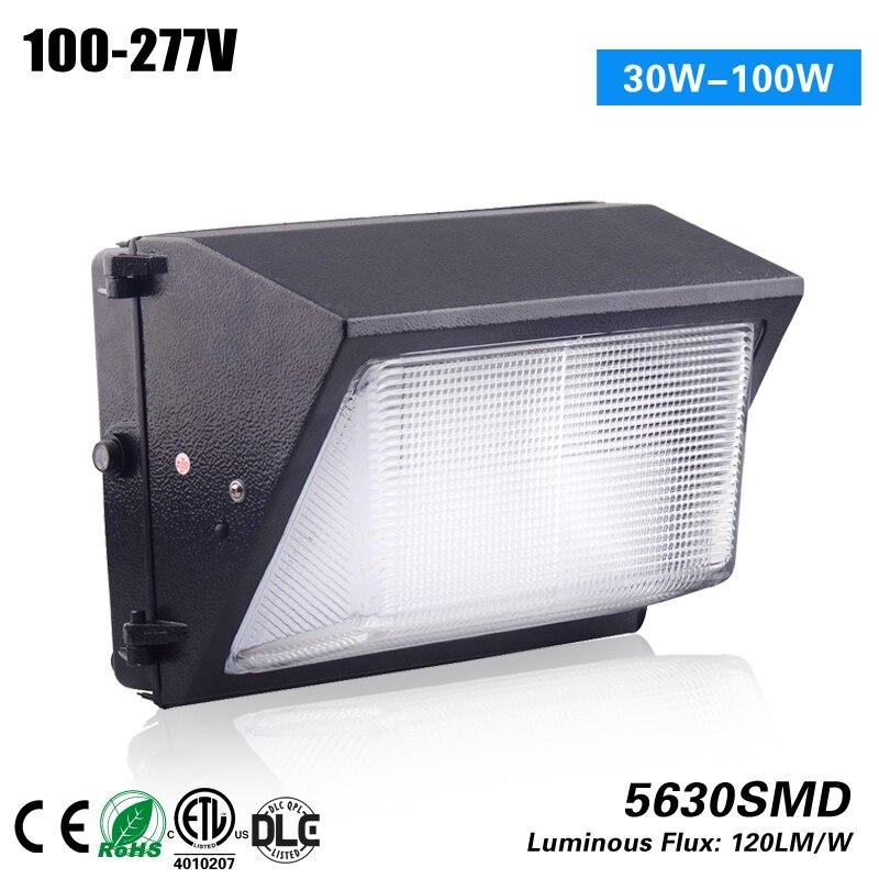 цена на CE ROHS ETL DLC 5 years warranty 30w led wallpack light to replace 100w HPS MH CFL 100-277VAC