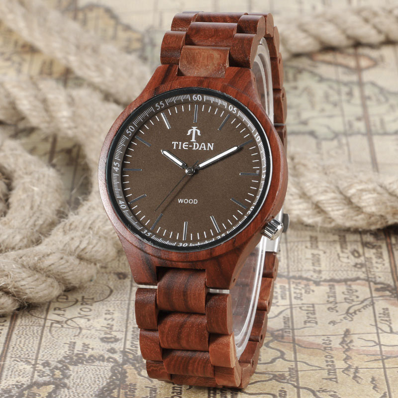 2017 Hot Fabulous Full Wood Bmaboo Natrual Wooden Watches Men's Top Sports Wristwatch Male Handmade Dress Watch Reloj de madera fashion top gift item wood watches men s analog simple bmaboo hand made wrist watch male sports quartz watch reloj de madera