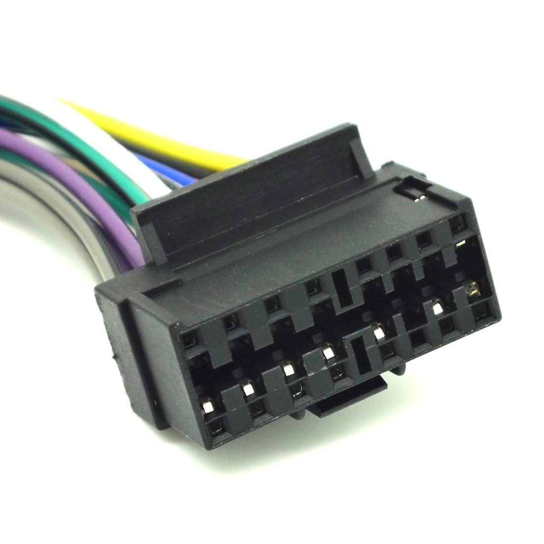 16 pin radio cd player stereo receiver wiring harness wire for jvc rh  aliexpress com JVC KD S37 JVC Car Radio