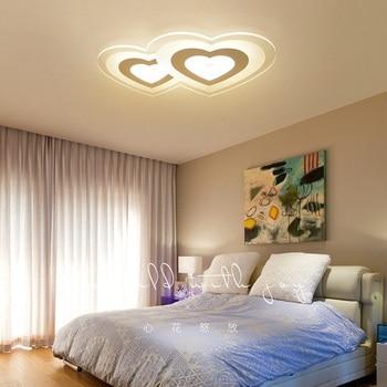Modern Acrylic Single Heart & Double Heart LED Ceiling Light Living room bedroom study dining room ceiling lamps lighting