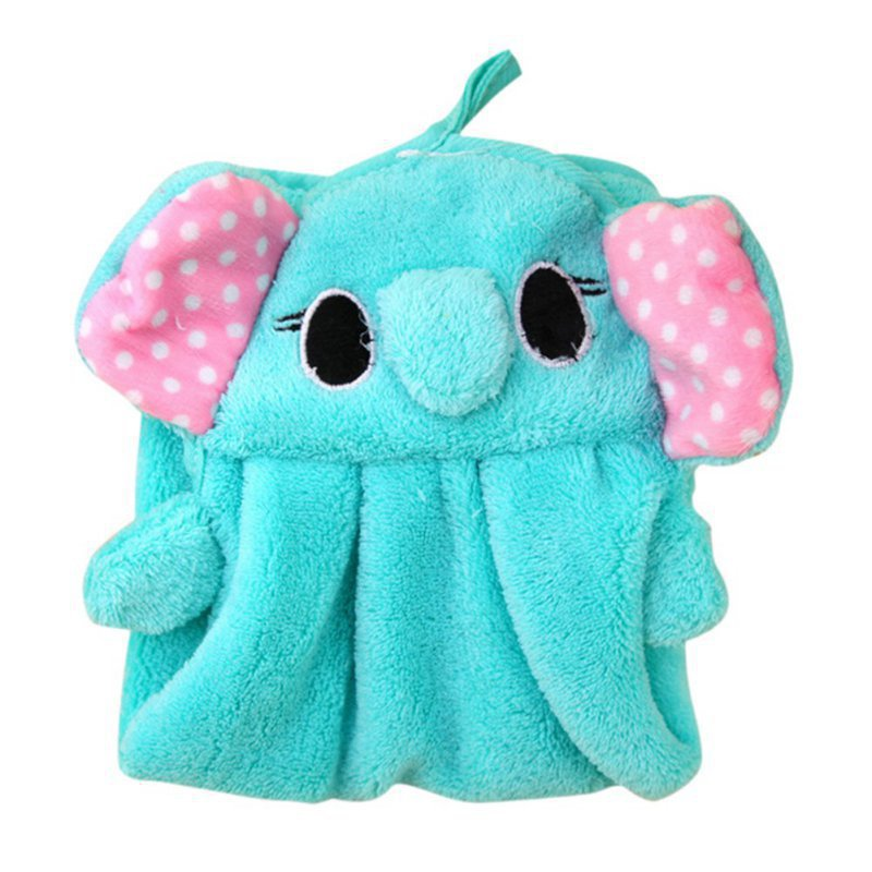 Colorful Kid Child Towel Sweet Candy Colored Cute Animal Baby Towel Super Soft Coral Fleece Wipe Sweat Hung Towel