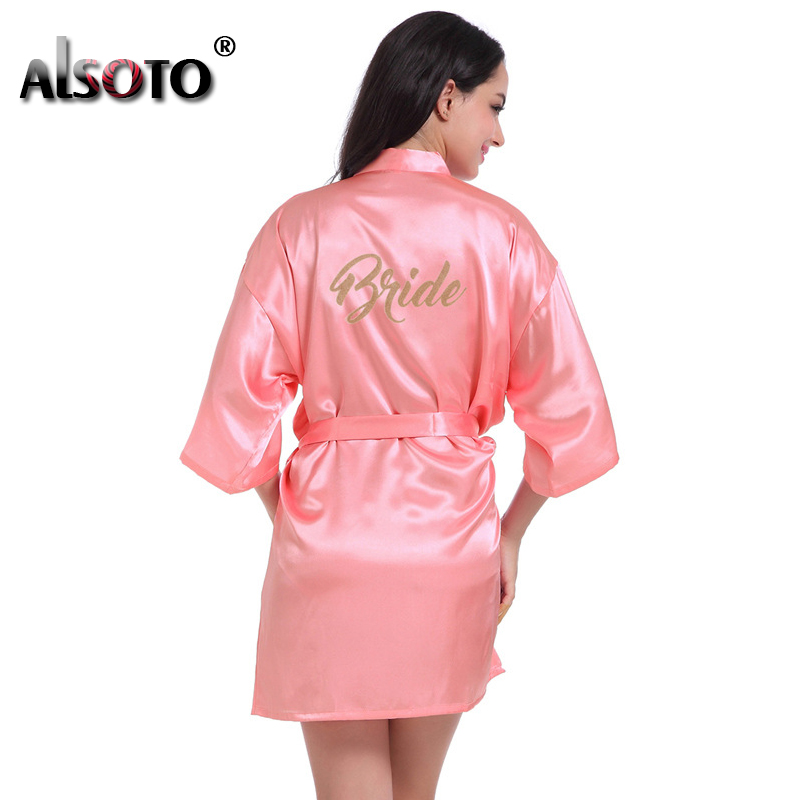 ALSOTO nightgown sexy lingerie pyjamas sleepwear Thin cardigan robe Bridal gowns women robe night dress bathrobe femme
