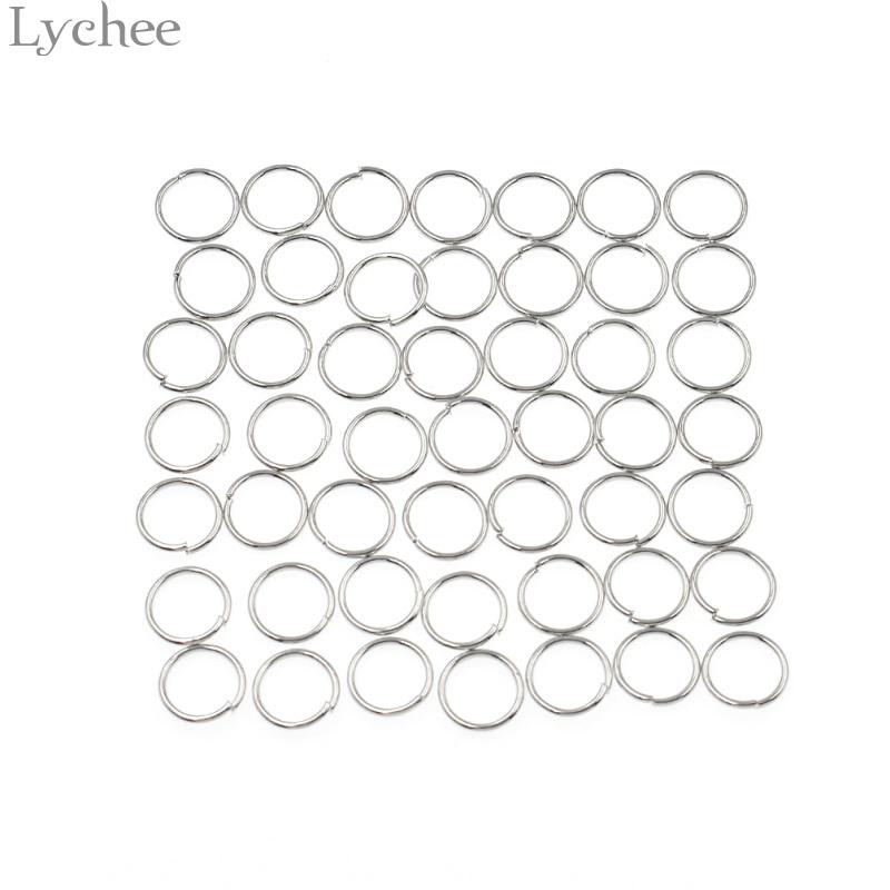 Lychee 50pcs/lot Alloy Punk Hair Braid Dread Dreadlock Circle Cuffs Clips Gold Color Silver Color Circle Headwear Accessories