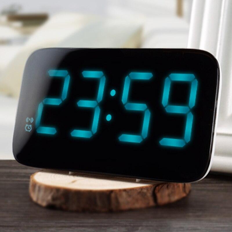 12/24 stunden LED Wecker Sprachsteuerung Große Led-anzeige Elektronischen Schlummer Backlinght Desktop Digitale Tabelle Uhren Uhr