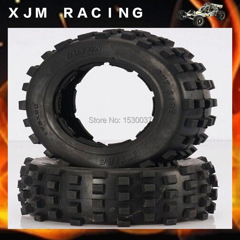 Rear knobby tire set fit HPI/Rovan/MCD baja 5t/5sc front knobby tire x 2pcs set fit hpi rovan mcd baja 5t 5sc free shipping