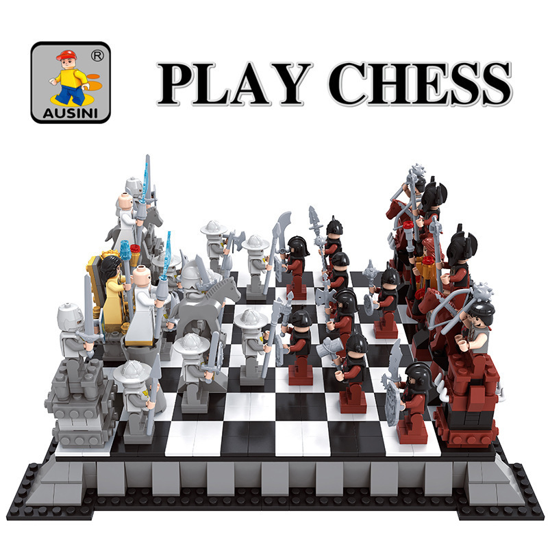 Ausini Model building kits compatible with lego city Chess 152 3D blocks Educational model & building toys hobbies for children model building kits compatible with lego city car 980 3d blocks educational model