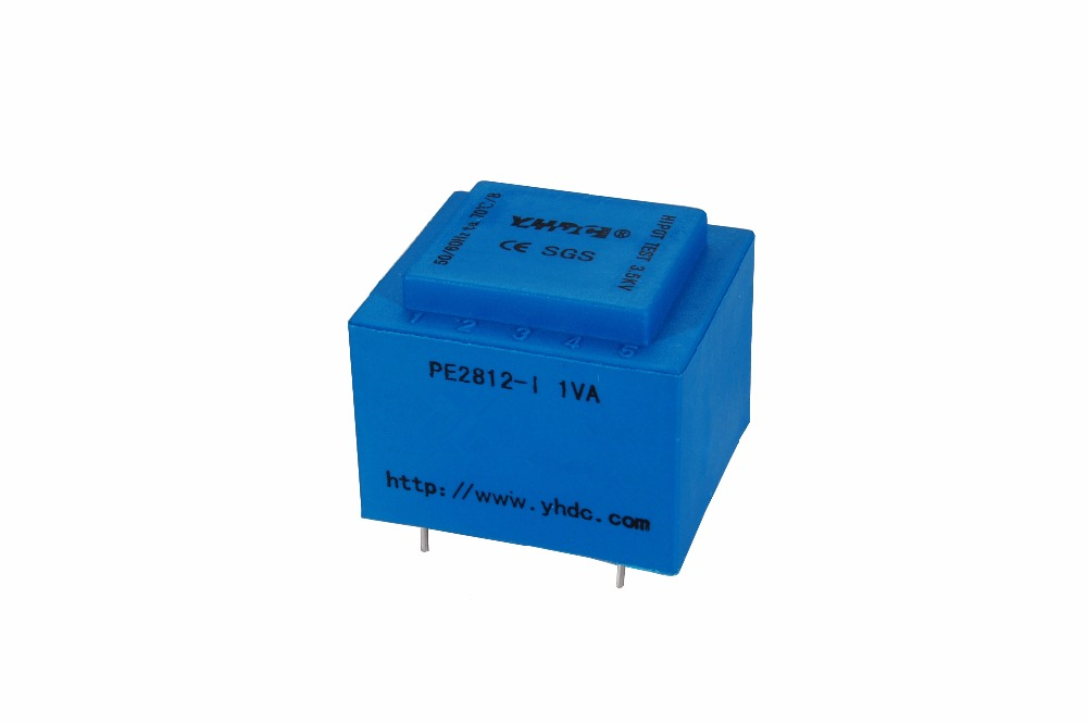 PE2812-I Power 1VA 220V/24V Expory resign encapsulated safety isolating transformer