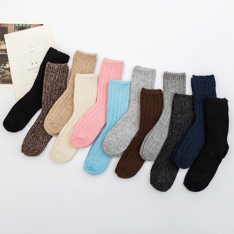 2018 New High Quality Thick Angola Rabbit Merino Wool   Socks   Women Brand Winter   Socks   calcetines Soft Warm   Socks   meias