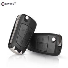 KEYYOU 10x 2/3 Buttons Flip Remote Car Key Shell Case For Vauxhall Opel Zafira a Vectra c Antigo Astra Omega Suprema HU43 Blade