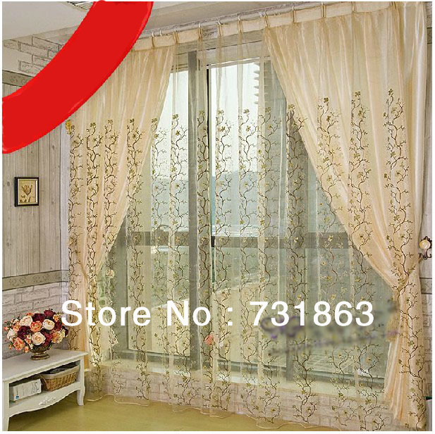 Window Curtains Embroidered Gauze Screen Netting Mosquito Nets For Windows Mesh As Seen