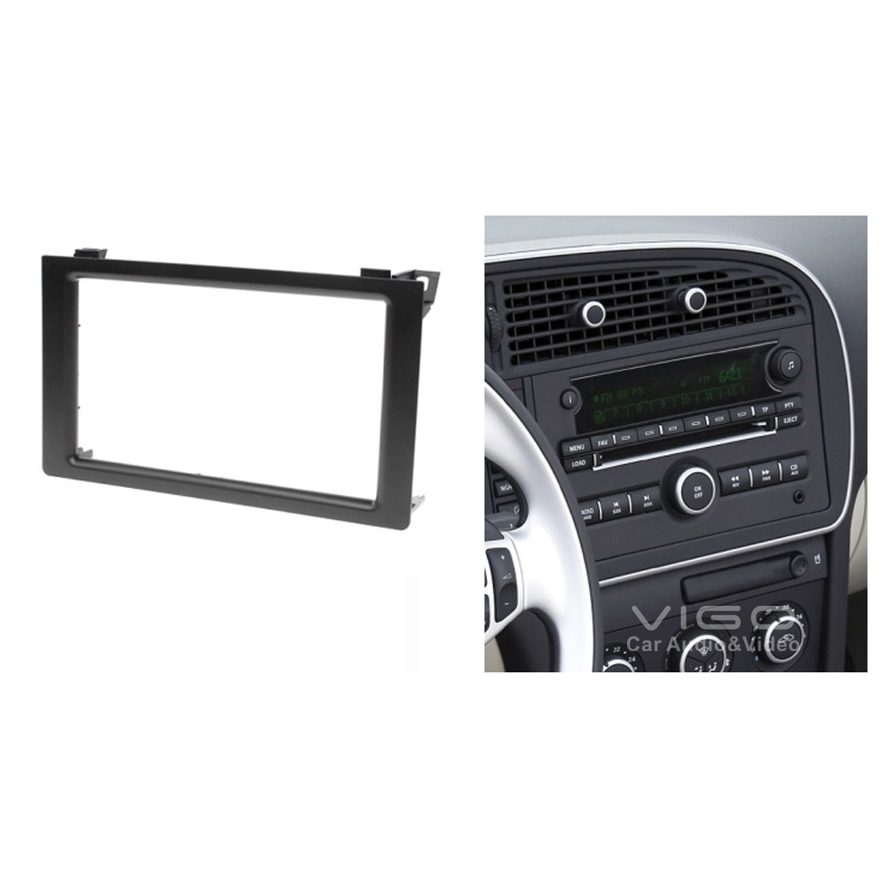 Car Radio Fascia Stereo frame facias for SAAB 9-3 Install Dash Bezel Trim Kit