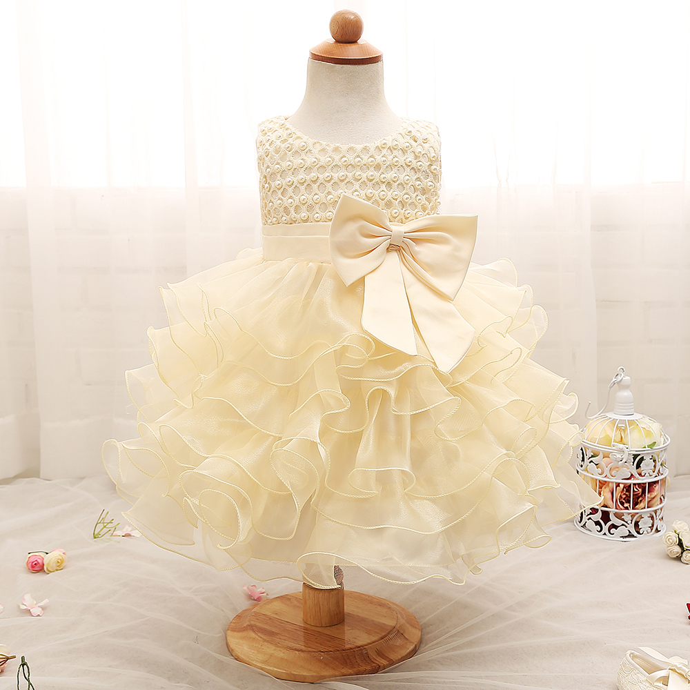 Wedding Newborn Infant Baby Girls Dress bebe for 1 year birthday Party fluffy Girl Clothes Princess Baptism Dress Kids Clothing