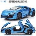 1:32 С Коробкой Fast & Furious 7 Мини Авто Металла Игрушки автомобили Модель Вытяните Назад Автомобиль Миниатюры Подарки для Мальчиков Дубай Lykan Hypersport